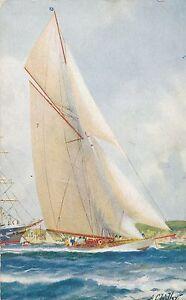 POSTCARD-SHIPS-YACHTS-BOATS-White-Heather-II