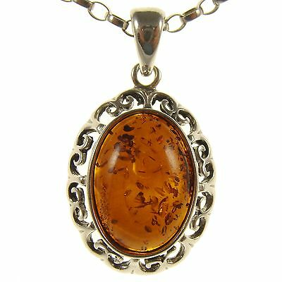 14 16 18 20 22 24 26 28 30 32 34 1mm ITALIAN SNAKE CHAIN BALTIC AMBER AND STERLING SILVER 925 SEAHORSE PENDANT NECKLACE