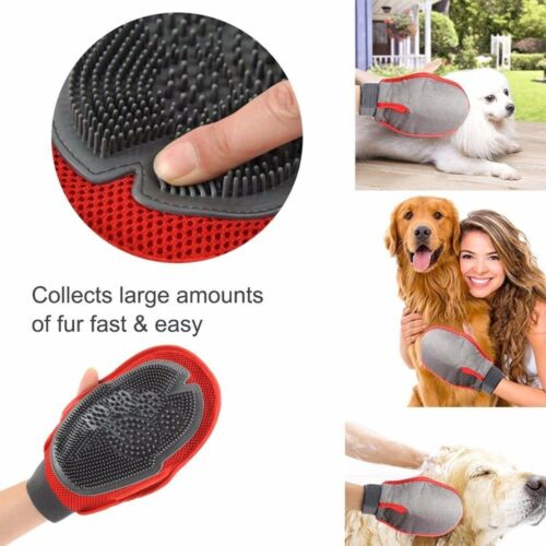 Dual Sided Glove Tool Pet Grooming for Remove Cat Dog Pet Massage  Rubber Mitt