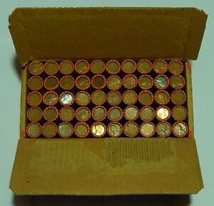 25-SEALED-Lincoln-Wheat-Roll-Box-1909-1958-P-D-S-Cent-Penny-Pennies-50-Rolls