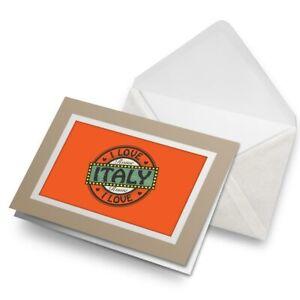 Greetings-Card-Biege-I-Love-Italy-Rome-Italian-Travel-7241