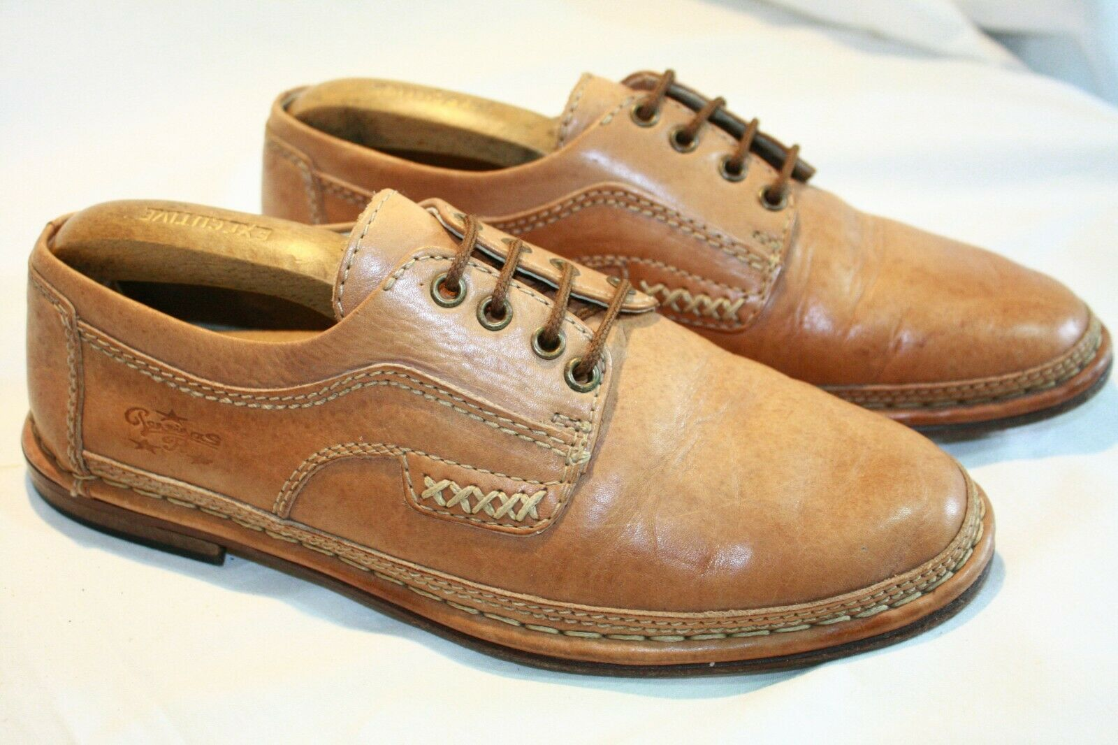 PERRINA DESIGNER MENS APPROX SIZE 7 SHOES + LEATHER UPPERS, LINING & THRU SOLES