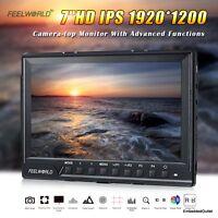 Feelworld 7 Ips 1920x1200 Hd Dslr Camera Video Field Monitor Native 1080p Lcd