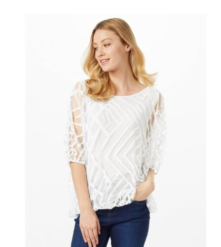 14 12 New Phase Eight White top size Uk 10 18 16