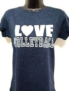 9f2dbf957f Details about VOLLEYBALL-LOVE - FUN VOLLEYBALL GLITTER TEES - GLITTER PRINT  - FREE SHIPPING!!