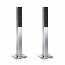 Teufel Paar Säulen-Lautsprecher L 430 FR Heimkino Boxen Paar Aluminium silber