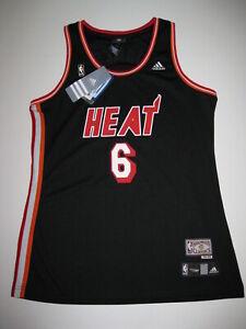 Details about Lebron James Miami Heat Black Hardwood Nights Women's Large Replica Jersey