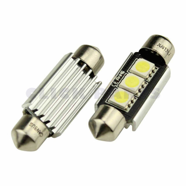 2 x 38mm 3 SMD LED 239 272 C5W CANBUS NO ERROR WHITE FESTOON BULB INTERIOR LIGHT