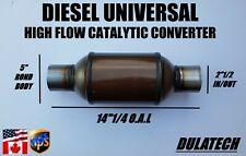 Diesel Universal High Flow Catalytic Converter 5 Body 212 Inout 25g Load