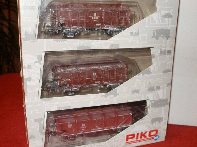 PIKO 58073 Set 3 x Cooling with Foldable Roof 2x kmm21 + KMMR aged DR