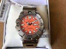 Seiko Monster SRP309k1 Men's Diver Watch 200m Orange Dial Bracelet