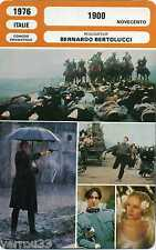 Fiche Cinéma. Movie Card. 1900/Novencento (Italie) 1976 Bernardo Bertolucci