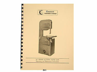 """Rockwell 20"""" Wood and Metal Cutting Band Saw Manual"""