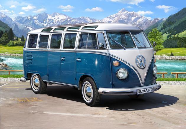 Volkswagen T1 Samba Bus , Revell Auto Modèle de Kit de Montage 1 16, 07009