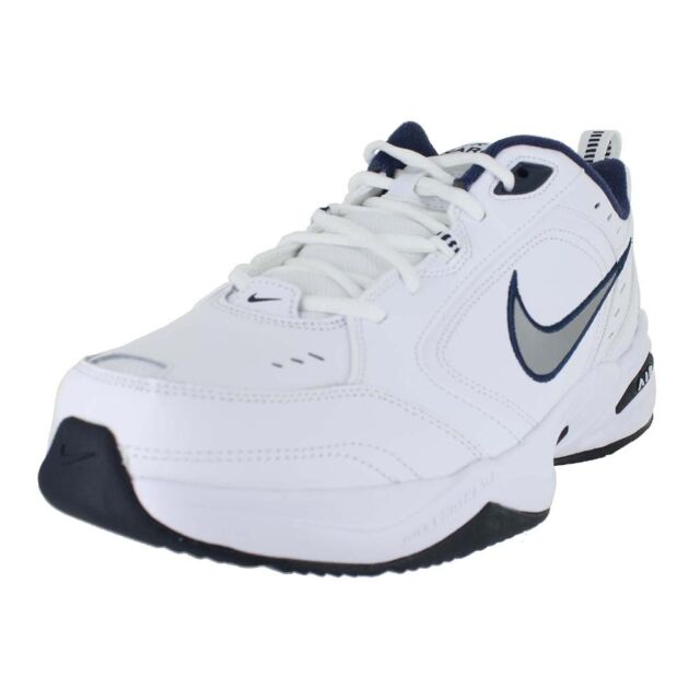 outlet store 7827f 5cede NIKE AIR MONARCH 4 MEDIUM WIDTH WHITE NAVY 415445-102 MENS US SIZES