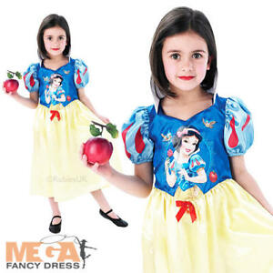 Details about Snow White Girls Fancy Dress Princess Fairytale Story Book  Kids Child Costume