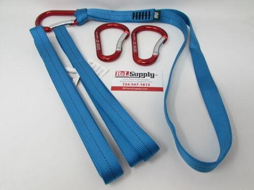 3 PACK SPEEDLINE KIT NYLON LOOP /& CARABINER SET ARBORIST CLIMBING RIGGING