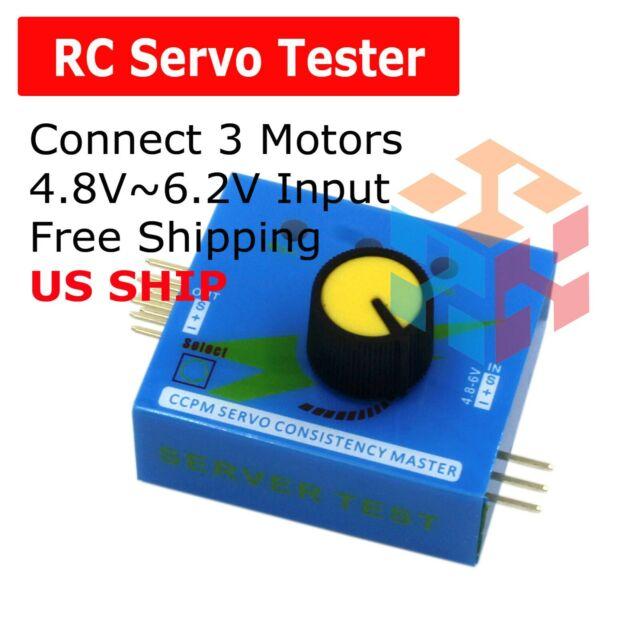 Adjustment Steering Gear Tester CCPM 3-Mode ESC Servo Motor for RC Car Airplanes