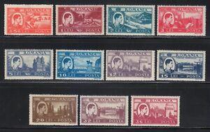 Romania-1947-MNH-Mi-1066-1076-Sc-666-676-King-Michael-Complete-Perfect-set