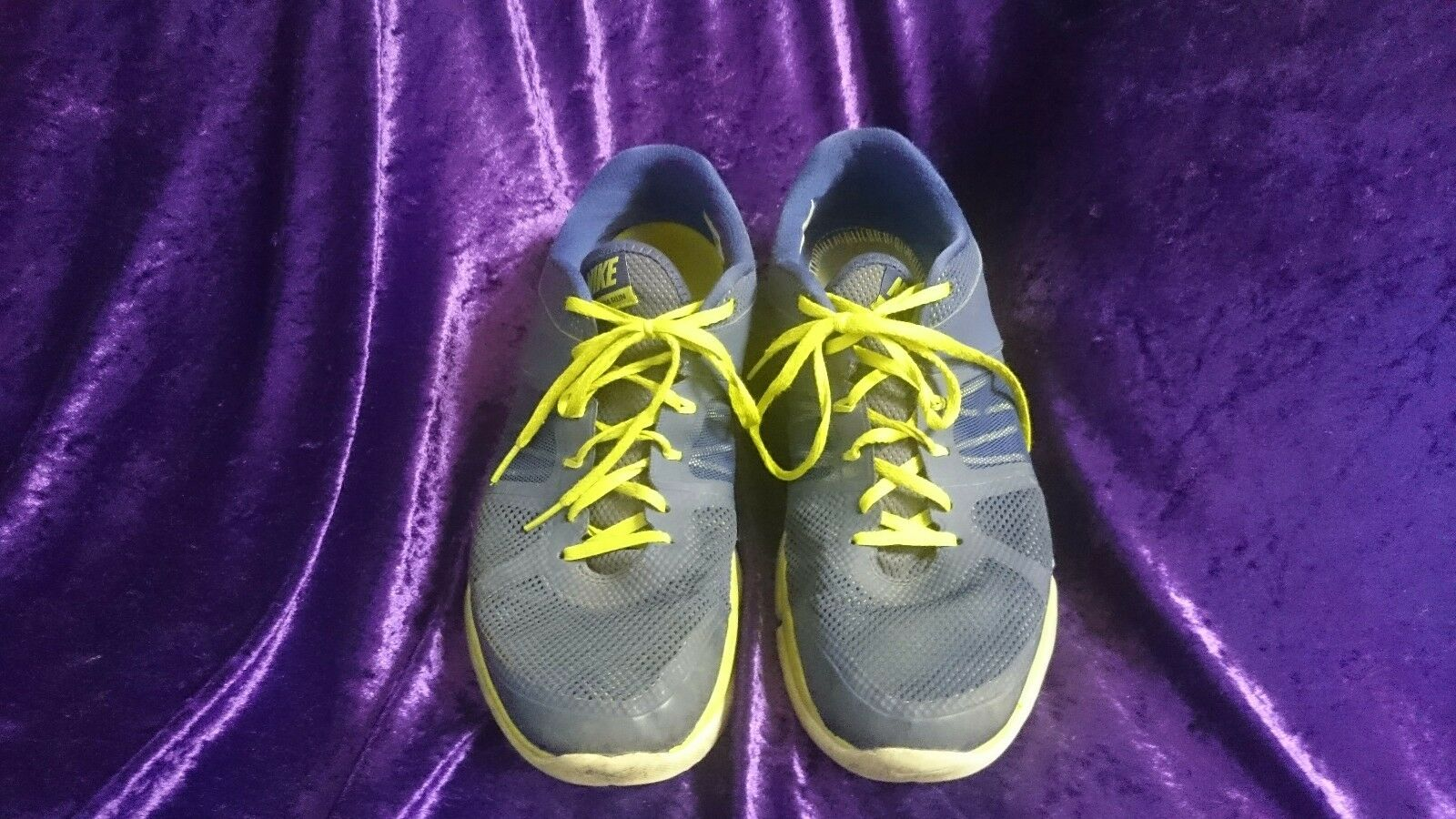 chaussures de sport nike baskets taille nous 13 hommes hommes hommes hommes  flex 2014 courir bleu et jaune | Emballage Solide  a396b7