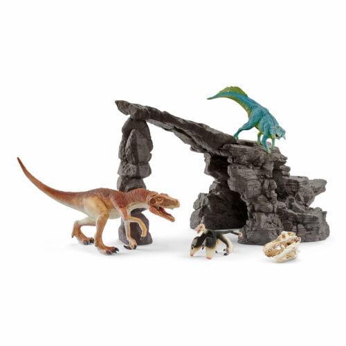 41461 Schleich DINO Set con grotta serie in plastica Dinosauri