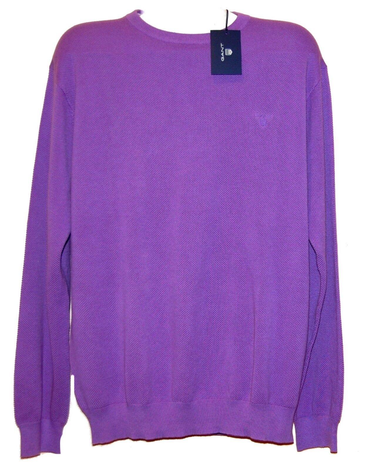 Gant Sweater Light Purple Long Sleeve Cotton Men's Size US 2XL NEW
