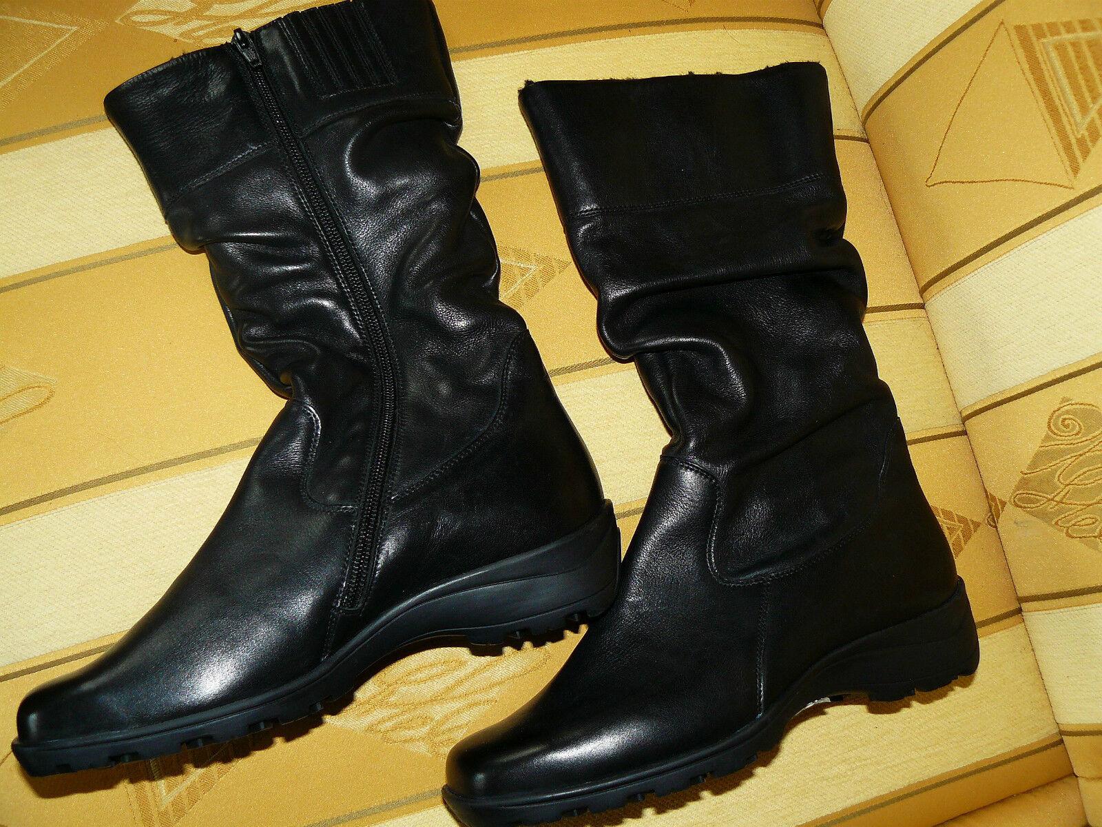 SEMLER Echt Leder Gr. 4 (37-37,5) ?  Stiefel Schwarz Neu! NP.195,00 Euro