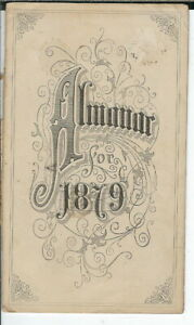 AM-050-Almanac-for-1879-16-pages-Vintage-Antique