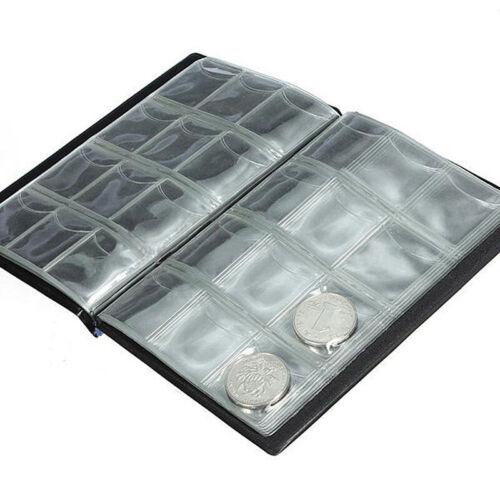 120x Coins Holders Storage Money Penny Pocket Album Book Folder SBT