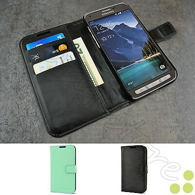 Luxury Leather Card Wallet Stand Case Cover for Samsung Galaxy S5 Active G870