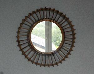 AgréAble Miroir Soleil Rotin Osier Vintage