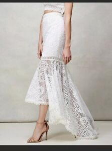 Details About Amur Stevie Skirt Wedding Bridal Shower Lace Gown Long Skirt