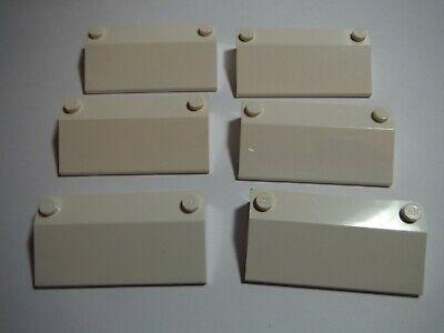 LEGO Lot of 2 White 3x6 Sunroof Slopes