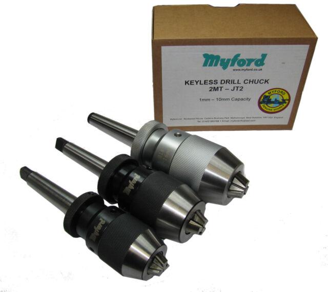 New Myford 2mt keyless drill chuck 8mm, 10mm, 13mm, 16mm mt2 Myford
