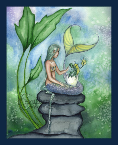 BABY SEA DRAGON MermaidPrint from Original Painting By Camille Grimshaw