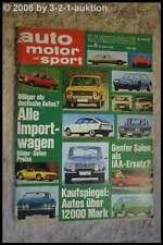 AMS Auto Motor Sport 6/71 Toyota Corolla Fiat 128 Rallye Fiat 130 Coupe