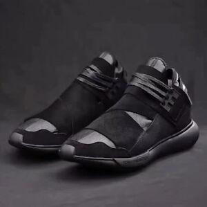 NEW-Y3-Qasa-High-Yohji-Yamamoto-Light-Weight-Lace-Up-Men-039-s-Black-Trainers-Shoes