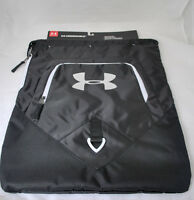 Under Armour Unisex Undeniable Sackpack In Black/white/silver