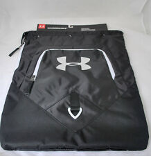 Under Armour Unisex Undeniable Sackpack in Black/White/Silver NEW