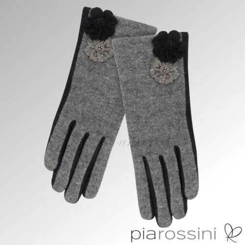 Pia Rossini Gloves Maisie Black//Charcoal MAI004