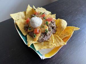 VINTAGE Taco Bell 1994 Faux Food NACHOS BELL GRANDE Promo Window Display Prop
