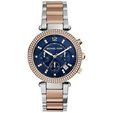 Michael Kors Women's MK6141 RoseGold-Silver Tone Chronograph BLUE DIAL watch