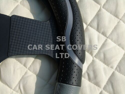 i BLACK//GREY SWC 57 MEDIUM TO FIT A VAUXHALL ZAFIRA STEERING WHEEL COVER