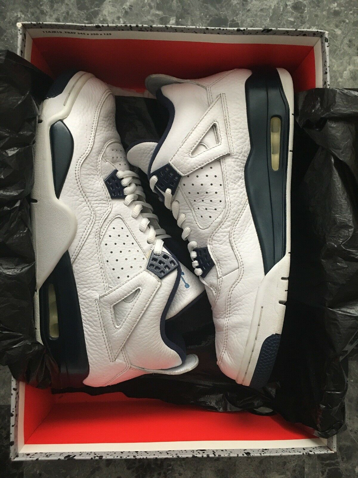 Air Jordan Retro 4 Legend bluee Men's Size 11