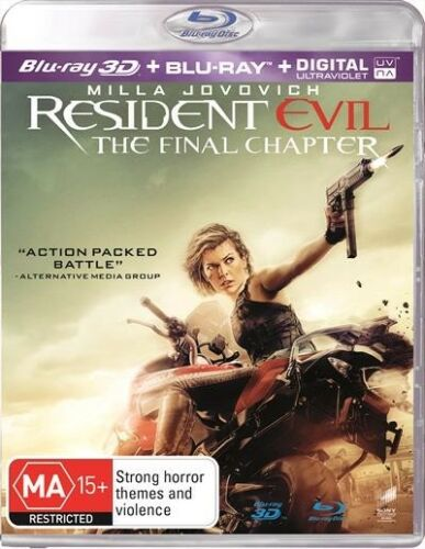 1 of 1 - Resident Evil - The FINAL Chapter 3D : NEW 3-D Blu-Ray+UV