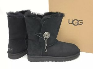 98e2e612ea5 Details about UGG Australia Azalea Black Charm Boots 1103129 Women's  Sheepskin Shearling