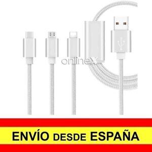 Cable-USB-3-en-1-Micro-USB-USB-Tipo-C-3-1-1-5-M-Nylon-Trenzado-a3002
