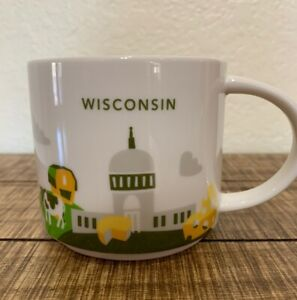 UNION CHAIRS WISCONSIN You Are Here 2014 RARE Starbucks Coffee Mug 14 oz