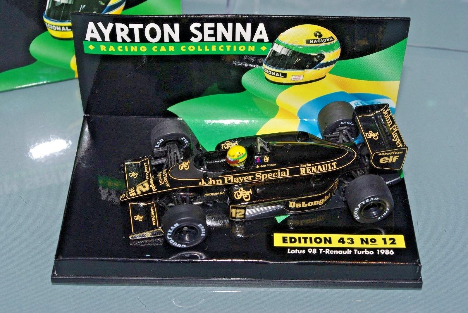 MINICHAMPS 1 43 LOTUS 98 T RENAULT JPS JOHN PLAYER SPECIAL SENNA COLLECTION  12