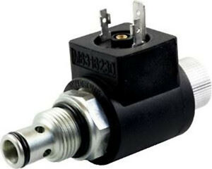NC solenoid 2//2 way 3//4-16UNF poppet valve with emergency